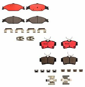 Brembo Front and Rear Ceramic Brake Pad Set Kit For Ford Mustang Base GT '99-'04