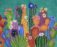 Needlepoint Handpainted JP Needlepoint CACTUS Smacked Us