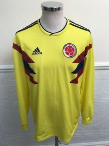 Adidas Colombia Home 2018-2019 Long Sleeve Football Shirt Camiseta Size Medium
