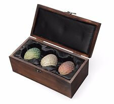 NEW Game of Thrones Targaryen Dragon Eggs Replica Set in Wooden Box
