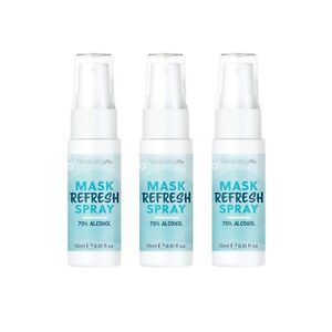 WellbeingMe Face Mask Refresh Spray 15ml Multipack (x3) | 70% Alcohol