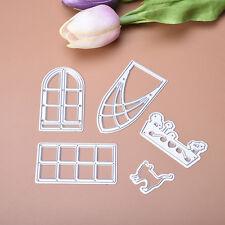 Door Window Glory Dies Metal Cutting Stencil Scrapbooking Paper Cards Craft