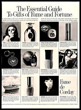 1968 Fame de Corday Perfume Vintage PRINT AD Fragrances Gifts Guide B&W 1960s