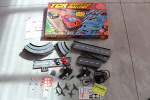 TYCO TCR SPORTS CAR CHALLENGE 1991 SLOT CAR RACING SET COMPLETE vintage