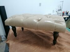 Chesterfield leather footstool