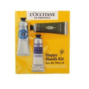 L'Occitane Moisturising Hand Cream Happy Hands Kit Gift Set 6 x 30ml - New
