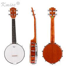 Kmise Banjo Ukulele Uke Banjolele 4 String Concert 23 Inch Sapele Wood