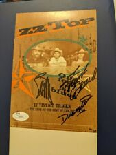 Zz Top - Signed Warner Brothers Table top pop up tent promo item from 1994 Jsa