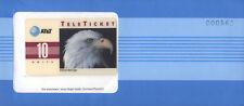 U.S.A. AT&T TELETICKET AMERICAN BALD EAGLE 10 UNITS NUOVA IN BUSTA SIGILLATA