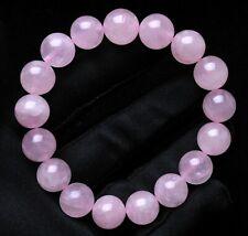Gemstone Bangle Bracelet Jewelry Madagascar 12mm Natural Rose Quartz Crystal