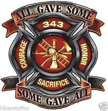 ALL GAVE SOME SOME GAVE ALL  FIREFIGHTER BUMPER STICKER HARD HAT STICKER