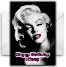 MARYLIN MONROE Personalised Birthday / Christmas / Card - Large A5
