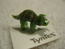 Tuf green triceratops dino Tynies Tiny Glass Figure Figurines Collectibles 0074