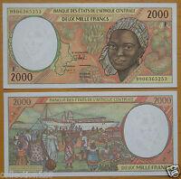 ECCAS Central African Republic Banknote (F) 2000 Francs UNC