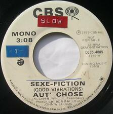 AUT' CHOSE Sexe-fiction LUCIEN FRANCOEUR PROMO DJ URBAN ROCK Canada QUEBEC 45