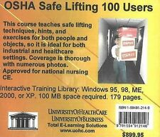 OSHA Safe Lifting, 100 Users by Daniel Farb (CD-Audio, 2005)