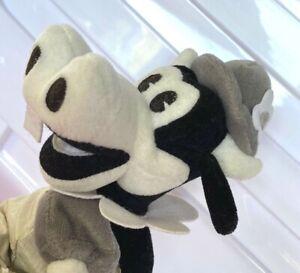 CLARABELLE COW STEAMBOAT WILLIE ERA BLACK & WHITE Plush Beanie TOY DISNEY STORE!