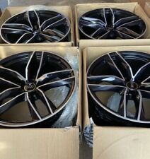 """18"""" RS6 Performance Style Alloy Wheels Black Polished Audi A5 A7 S5 S7 A4 A3 A6"""