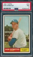 1961 Topps Set Break # 23 Don Demeter PSA 7 *OBGcards*