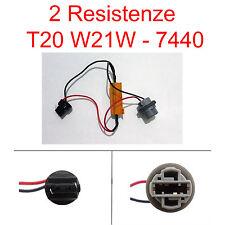 2 RESISTENZE LED T20 W21W 7440 Singolo Filamento ELIMINA ERRORE FRECCIA LED AUTO