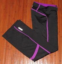 Womens ASICS Orilia Pant Athletic Yoga Workout Excercise Pants Black Magenta-M