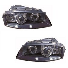 For Audi A3 Mk2 2003-2008 Headlights Headlamps Chrome 1 Pair O/S & N/S