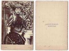 CABINET CARD Photograph Princess Alexandra by Ralph of Sandringham VERY RARE