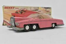 """Dinky Toys Lady Penelope's FAB 1 in Original Box 1966 Pink Car 6"""" Long"""