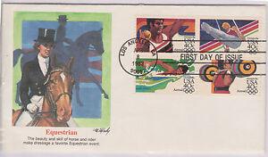 (USE66) 1983 USA FDC $1.60 4block 40c Equestrian used