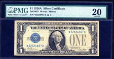 STAR 1928A 1 DOLLAR SILVER CERTIFICATE (*A BLOCK) STAR NOTE PMG 20  LQQK!*