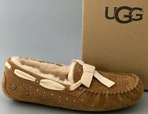 UGG Australia DAKOTA SUNSHINE PERF Suede Swarovski Slippers US12 #1019199  $140