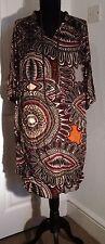 Wallis loose fitting shirt dress aztec pattern size 10