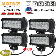 4X 7INCH 36W CREE LED WORK LIGHT BAR FLOOD LAMP BEAM OFFROAD UTE TRUCK 4WD US