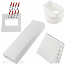 """CDA Wall Vent Kit Vented Tumble Dryer Hose External PVC Outlet Pipe Cowl 4"""""""