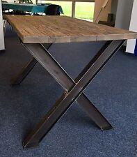 1 Stück X Tischbein Stahl Design Tischkufen Stützfuss Tischgestell  X-Form B 800