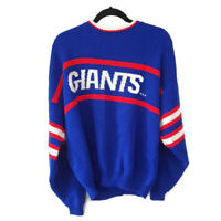 Vintage New York Giants Knit Sweater Made In USA 80s NFL Football Barrel II XL