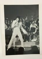 ELVIS PRESLEY ON STAGE VINTAGE 8 X 10 BLACK AND WHITE PHOTO WITH RONNIE TUTT