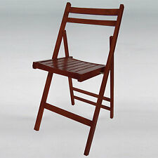 silla plegable de Madera en color wengu'