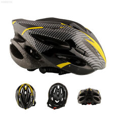 03c9 Cycling Adult Men's Bike Bicycle Carbon Helmet With Visor 21 Holes Yellow