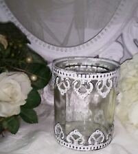 Lantern Tea Light Glass Glass Shabby Vintage Country House Garden Metal 8x10cm