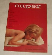 1965 CAPER MEN's PINUP MAGAZINE SEX & the DEVIL ACAPULCO BRITT OLSEN cover Girl