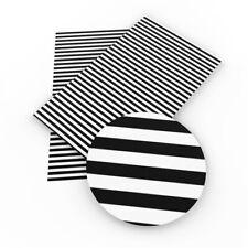 "Black Stripes FAUX LEATHER SHEET 9"" x 13"" WHOLESALE PRINTED 1063638"