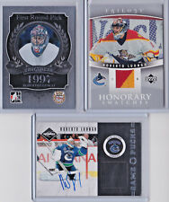 2011-12 ROBERTO LUONGO GAME PUCKS AUTO + HONORARY SWATCHES! FLORIDA PANTHERS!
