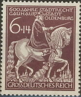 Stamp Germany Mi 907 Sc B290 1945 WWII 3rd Reich Oldenburg Gunther Horse MH