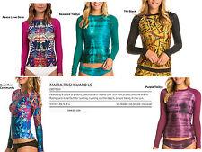 NEW Dakine Maira L/S Womens XS,S,M Rashguard Swim Surf UV Sun Shirt Top Msrp$68