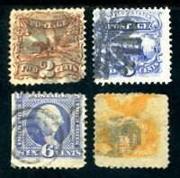 USAstamps Used FVF US $1869 Pictorial Issues Scott 113, 114, 115, 116