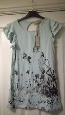 BNWT Primark Light Blue Print Organic Cotton Top Size 14