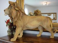 Deko Figur Löwe 52 cm Königslöwe Gartenfigur Skulptur Statue Raubkatze Lion NEU