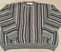 VTG Made in ITALY Norm Thompson XL Wool Coogi Style Sweater Cosby Biggie