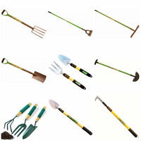 Garden Digging Spade Fork Rake Border Edging Hoe Carbon Stainless Steel Tools